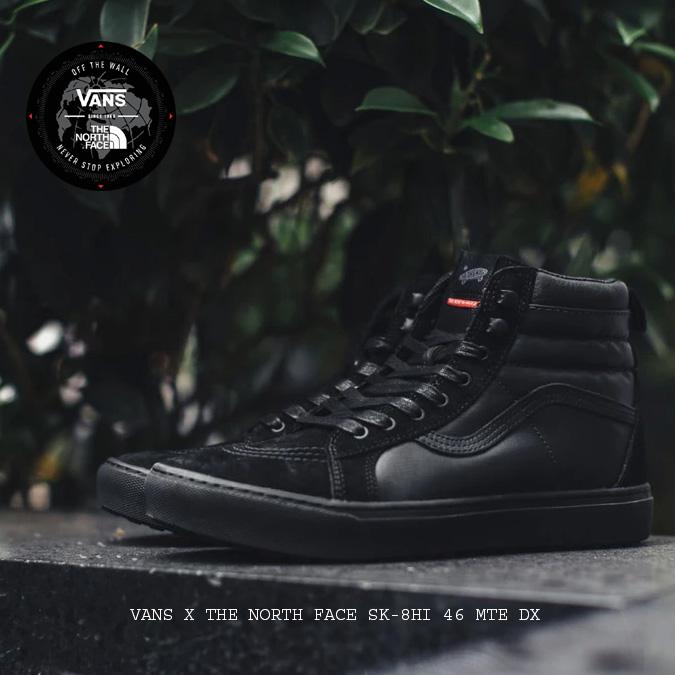 d02991d9b1b5e7  VANS X THE NORTH FACE SK-8HI 46 MTE DX (TNF Black TNF Black )